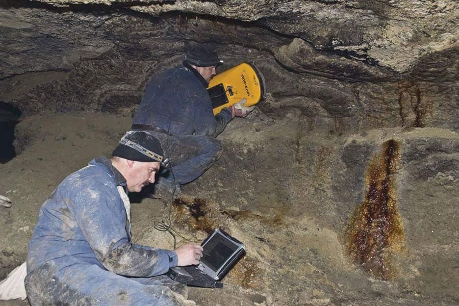 Forschung in unterirdischen Konstruktionen mit VIY3 Georadaren